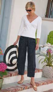 Fashions-by-Soft-Surroundings offers some clothes for 50+ women that are comfortable, casual and elegant chic.