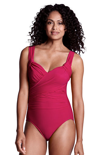 Find the right bathing suit for a mature figure