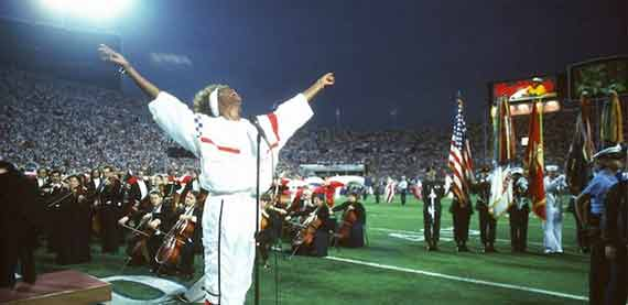 Whitney Houston At Superbowl XXV