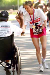 Trisha Meili with wounded Iraq vets & running with Prince Harry in Central Park