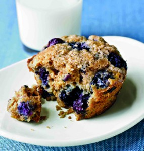 Easy Blueberry Oatmeal Muffins