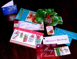 Gift tags from Christmas cards